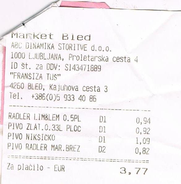 Słowenia Bled ceny