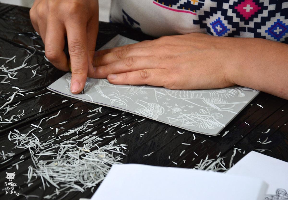 Rękoczyny warsztaty linorytu