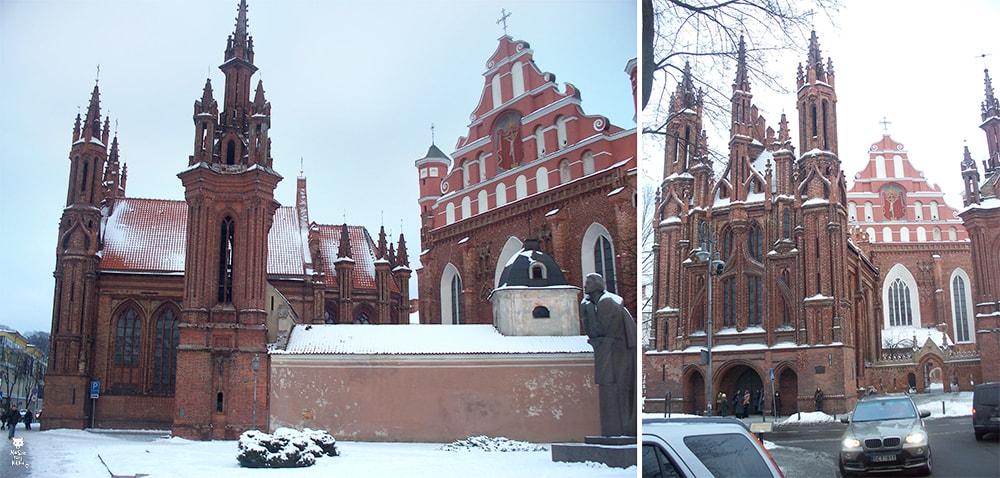 Via Baltica Litwa Wilno Kościół Św. Anny