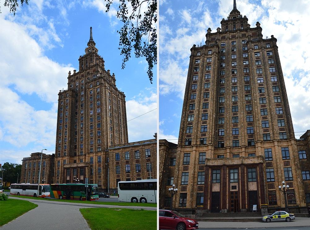Łotwa Ryga Łotewska Akademia Nauk