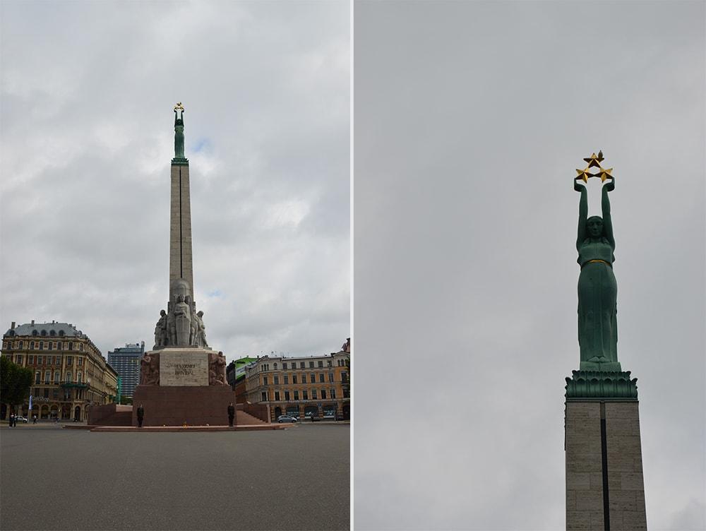 Łotwa Ryga Pomnik Wolności