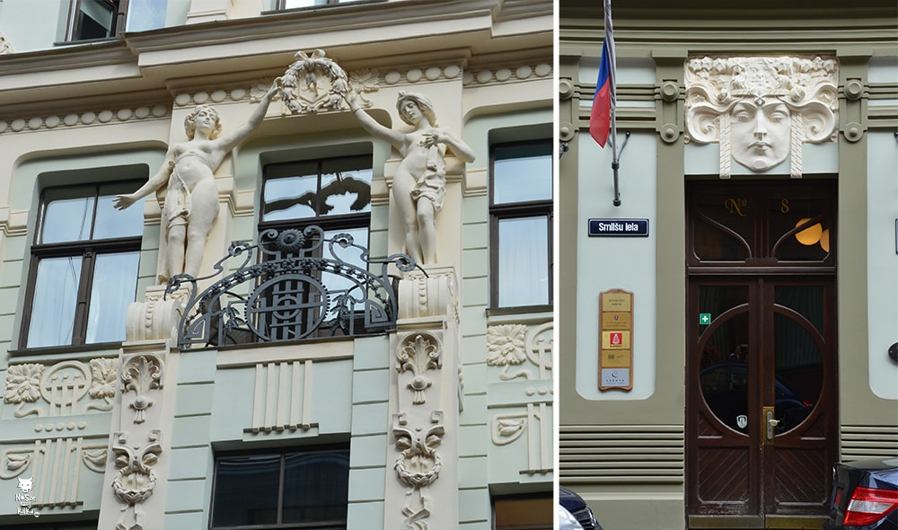 Łotwa Ryga Art Nouveau secesja
