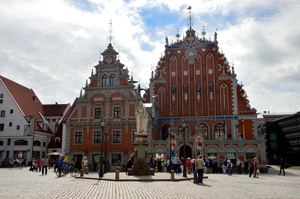 Łotwa Ryga Dom Czarnogłowych