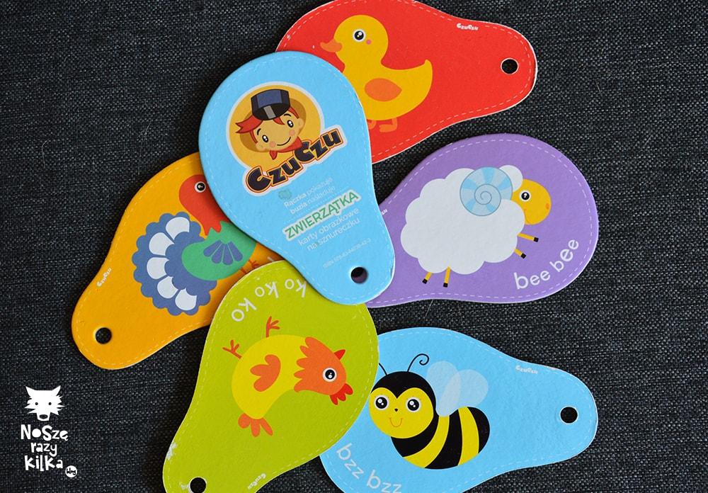 Karty z odgłosami zwierząt Czu Czu