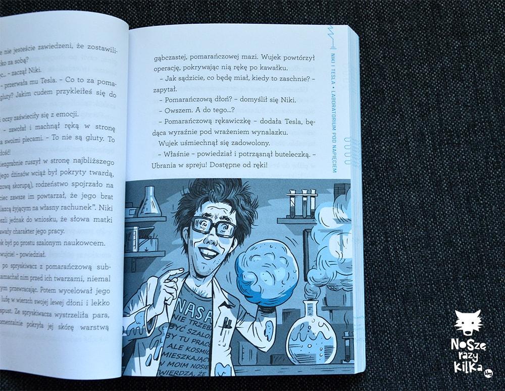 """""""Niki i Tesla. Laboratorium pod napięciem"""" """"Science Bob"""" Pflugfelder, S. Hockensmith, wyd. RM"""