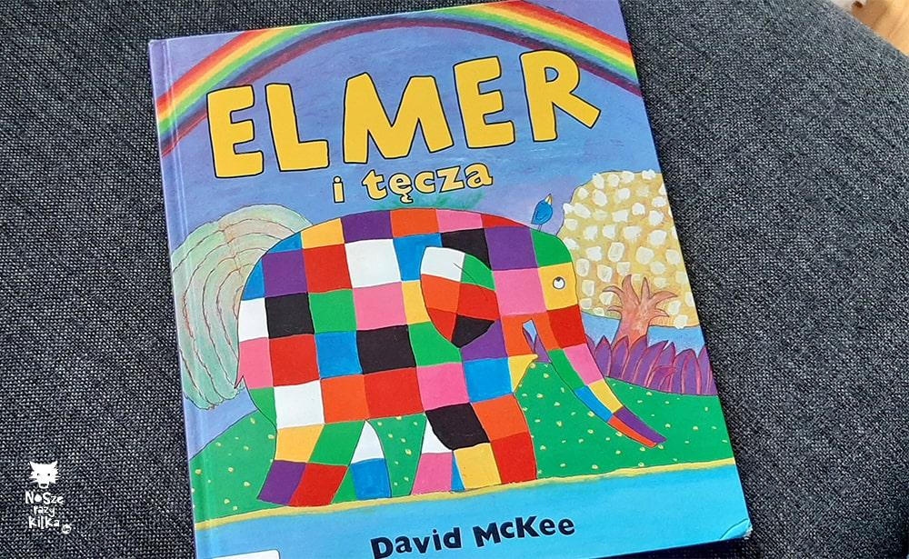 """Elmer i tęcza"" David McKee, wyd. Papilon"